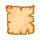Old paper, torn parchment vector symbol icon design. Royalty Free Stock Photo