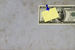 Old paper vintage with blank yellow paper. Old paper vintage can be use as background backdrop Royalty Free Stock Photo
