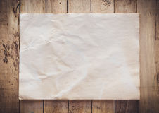 Old paper vintage on wood background Royalty Free Stock Photography