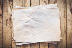 Old paper vintage on wood background Royalty Free Stock Photo