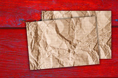 Old paper on wall Royalty Free Stock Photo