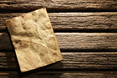 Old paper on wall Royalty Free Stock Images