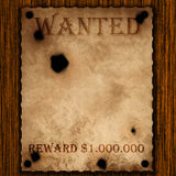 Old paper wanted sign Royalty Free Stock Images