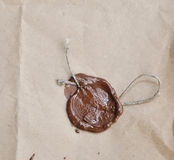 Old paper with wax seal Stock Photos