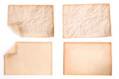 Old paper on white background. The old paper on white background Royalty Free Stock Image