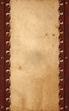 Old paper on wood background Royalty Free Stock Images