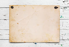 Old paper on the wood royalty free stock photos
