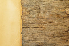 Old  paper  on the  wood  background Stock Photography