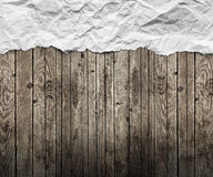 Old paper. On the wood background royalty free stock photos