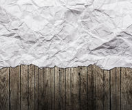 Old paper. On the wood background royalty free stock images