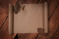 Old paper on the wood background Royalty Free Stock Images
