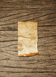 Old paper on wood texture Stock Photo