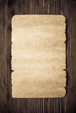 Old paper on wood texture Royalty Free Stock Images
