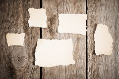 Old paper on wooden background Royalty Free Stock Photography