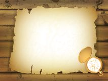 Old paper at wooden background Stock Photos