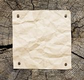 Old Paper On Wooden Background royalty free stock image