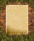 Old paper on wooden background Royalty Free Stock Photos