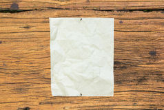 Old Paper On Wooden Royalty Free Stock Image
