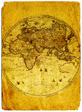 Old paper world map. Stock Photos