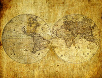 Old paper world map. Old paper world map,Armenia stock photo