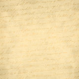 Old Paper with writing. Faded text on a paper background Royalty Free Stock Photo