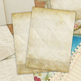 Old papers. Old blank papers ,retro background Royalty Free Stock Photos