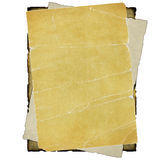 Old papers. Stack of old worn papers on white Royalty Free Stock Photography