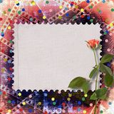 Old papers  with beautiful roses. Old papers and grunge filmstrip  with beautiful roses Stock Photography