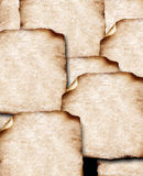 Old papers with burned edges Royalty Free Stock Image