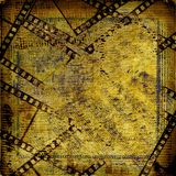 Old papers and grunge  filmstrip. On the alienated background Stock Images