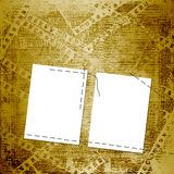 Old papers and grunge  filmstrip Stock Image