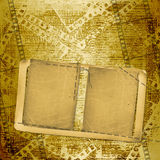 Old papers and grunge  filmstrip. On the grunge background Royalty Free Stock Photography