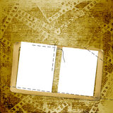 Old papers and grunge  filmstrip. On the grunge background Stock Photo