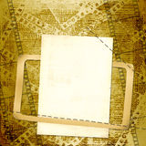 Old papers and grunge  filmstrip. On the grunge background Stock Image
