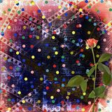 Old papers and grunge filmstrip. With beautiful roses Royalty Free Stock Photography