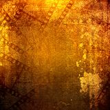 Old papers and grunge filmstrip. On the alienated background Royalty Free Stock Photos