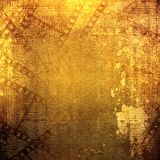 Old papers and grunge filmstrip. On the alienated background Royalty Free Stock Photography