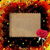 Old papers and grunge filmstrip. With beautiful roses Stock Images