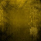 Old papers and grunge filmstrip on alienated background Royalty Free Stock Images