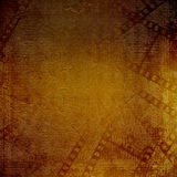 Old papers and grunge filmstrip o. N the alienated background Stock Photo