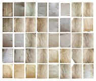 Old papers set isolated Royalty Free Stock Photo
