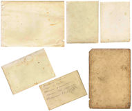 Old papers set isolated on white background with clipping path. Stock Photo
