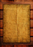 Old papers on wood textures background Royalty Free Stock Photos