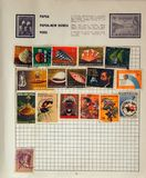 Old Papua New Guinea Stamps Royalty Free Stock Photography