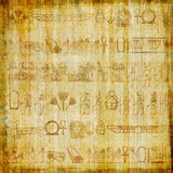 Old papyrus. Background with hieroglyphics Royalty Free Stock Photo
