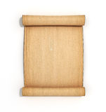 Old papyrus scroll  on white background 3d illustration Royalty Free Stock Photos