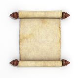 Old papyrus scroll  on white background 3d render Royalty Free Stock Photos