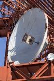 Old parabolic antenna Royalty Free Stock Images