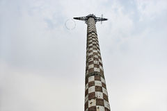 Old parachute jump tower Royalty Free Stock Images
