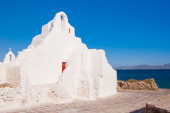 Old Paraportiani 14 century church on Mikonos in Greece Stock Image